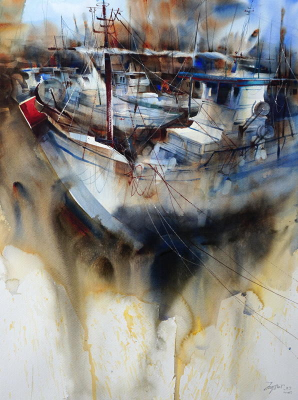 The Charm of Aegean Sea #12 – 2017 National Watercolor Society International Open Exhibition, San Pedro