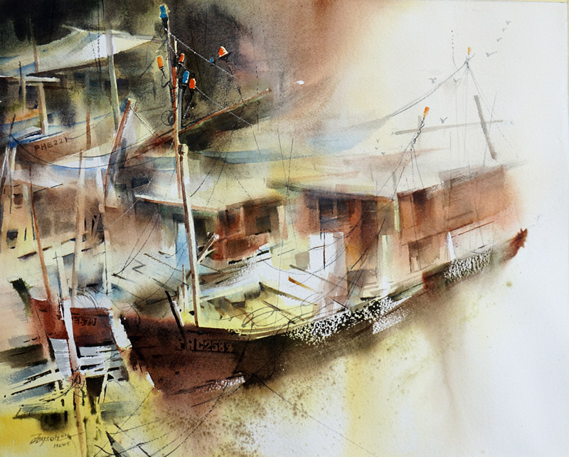 """The 1st International Watercolour Exhibition """"Freedom of Self Expression"""""""